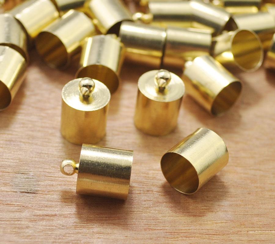 Pcs raw brass end caps metal cap connectors large