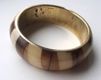 Brass bangle, Brass bracelet, vintage brass bangle, vintage bangle, wide bangle