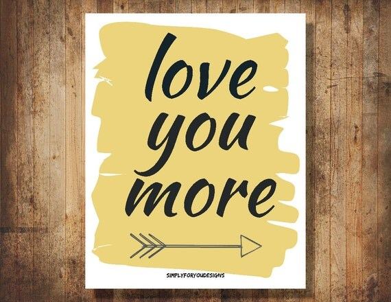 love you more black and gold canvas wall decor canvas. Black Bedroom Furniture Sets. Home Design Ideas