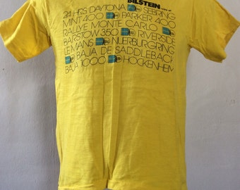 Vtg 70s 80s Bilstein Shock Absorbers Auto Racing T-Shirt Yellow S