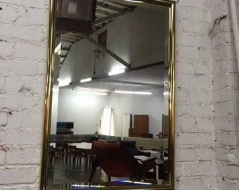 Vintage Brass Beveled Mirror