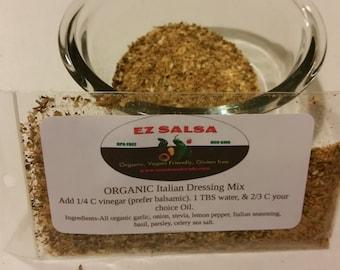 Italian Dressing dry mix. All organic. Gluten free. Pesticide free