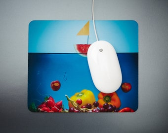 Mousepad rubber, fabric, food image, photo, photography, food, funny, gift, fruit, vegetable, computer, techno