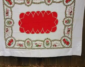 20.  Vintage Christmas Tablecloth