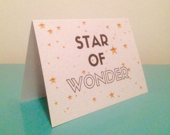 Star of Wonder - black