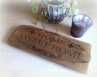 Wooden sign door sign home old wood wooden garden sign Türdeko Upcycling table image gift