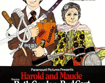 Harold and Maude - Poster/Print with Black Card Frame and Mount (23CM X 17CM)