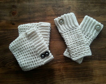 Boot cuff, fingerless gloves set