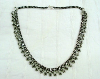 vintage antique tribal old silver necklace choker necklace belly dance jewelry