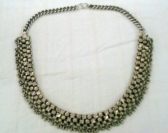 vintage antique ethnic tribal old silver necklace choker necklace jewelry