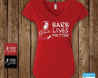 Stranger Things Barb Women's Vneck | Barb Lives Matter Triblend Vneck |Barb Stranger Things Ladies Ladies V neck | Stranger Things Vneck-A12