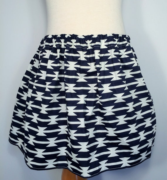 navy blue and white skirt