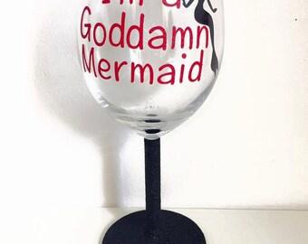 RuPauls Drag Race Adore Delano Quote Glitter Wine Glass