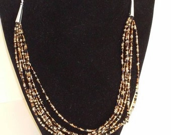 7 layer seaded bead necklace