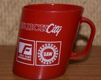 Vintage Buick Plastic Advertising Mug