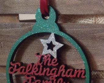 Large 15cm Personalised Baubles by Duck Duck Goose