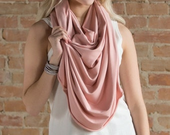 Poncho Scarf in Pink Peony