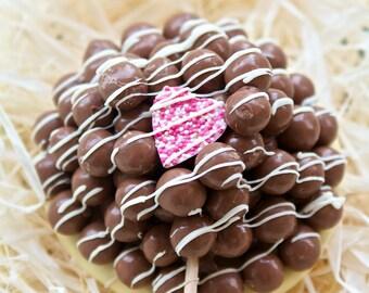 Giant Chocolate Malteser Lollipops