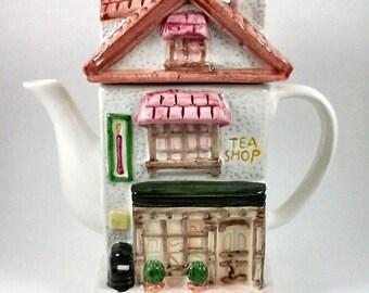 Ceramic House Tea Shop Tea Pot