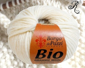 Organic yarn - 01 Ivory  - 50g - Aran - Knitting Yarn