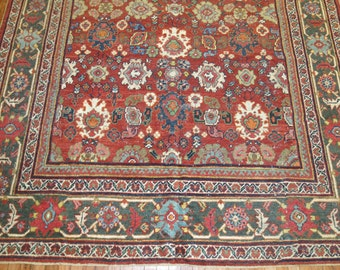 Antique Persian Sultanabad Mahal Rug Size 7'5''x10'2''