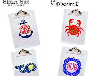 Personalized Nautical Themed Clipboard