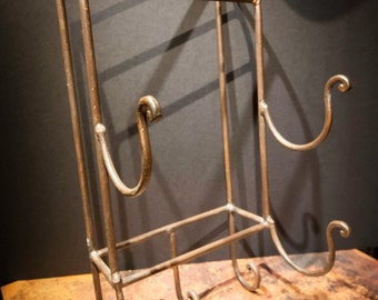 Vintage Scrolled Iron Wall Towel Holder