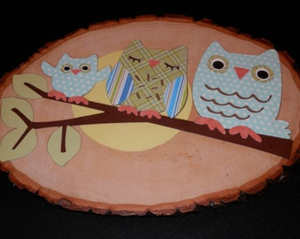 Owl Family Wall Hanging-Blue