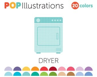 Dryer Clip-Art for Commercial Use - A0257
