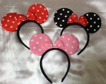 10 Minnie Mouse/ Mickey Mouse ears Ready to Ship,Party favors, Birthday favors