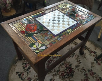 Checkered Board Mosaic Table