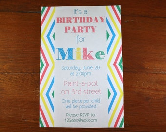 Birthday Party Invitation-Digital