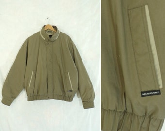60%OFF Aug30-Sep1 mens memebers only coat size xl, insulated coat, 90s coat, khaki olive green, mens coat, mens jacket, mens xl, utility