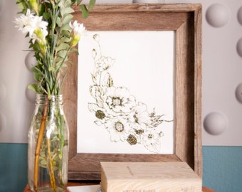 "8""x10"" Goldfoil Press Botanical Illustration"