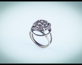 Micro-Organism Silver Ring 4