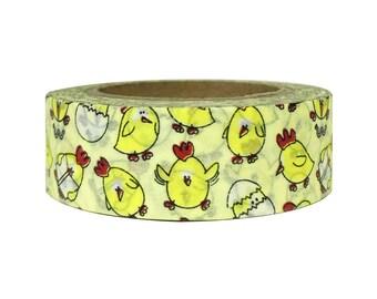 Dancing Chicken Washi Tape-Silly Chicken Washi-Chicken Washi Tape-Chicken Tape-Chicken Washi-Egg Washi Tape-Washi Masking Tape-Washi Tape