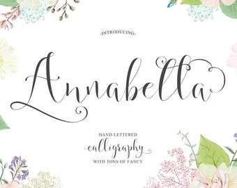 Annabella Hand-lettered Calligraphy Script Font Commercial Download