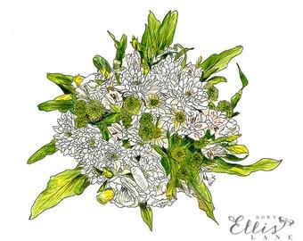 Charlotte's Bouquet - MOUNTED, Fine Art Print