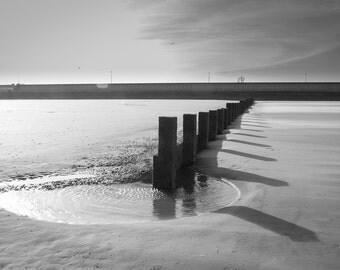 """Sinking Groynes - 16"""" x 12"""" Photographic Print"""