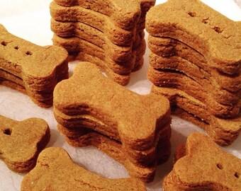 Barka Biscuits Organic Dog Treats Pumpkin Bones No-Wheat 1.5in 3dz
