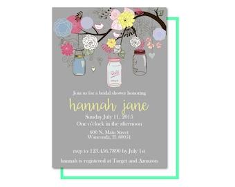 Rustic Chic Bridal Shower Invitation Printable