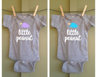Little Peanut bodysuit, little peanut, Elephant, Short Sleeve, Gift, baby shower gift, little peanut onesie, elephant outfit
