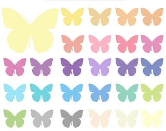 50% OFF SALE 100 Colors Giant Butterfly Clipart