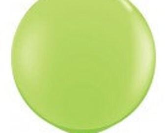 Giant Lime Green Balloon, Jumbo 90cm Balloon, Jumbo 3FT Balloon, Party Balloon, Halloween Balloon, Tropical Party, Dinosaur Party, Woodland