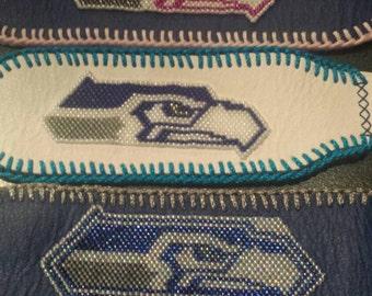 Beaded Seattle Sea Hawks bracelet