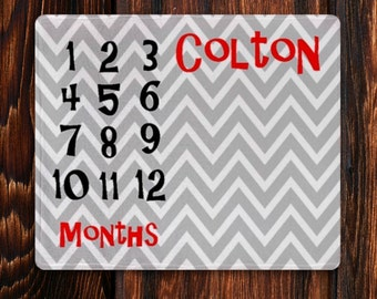 Monthly Milestone Blanket, Personalized Baby Blanket, Baby Month Blanket, Newborn Photo Prop, Monthly Baby Blanket, Custom Baby Gift