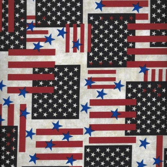 Stars And Stripes Patriotic Fabric July 4th Fabric 4th Of