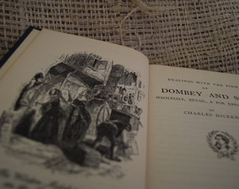 Dombey and Son. Charles Dickens. A Vintage Hard Back Book. 1930
