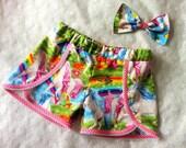 girls unicorn shorts colourful unicorns kids clothes fairytales princesses girls shorts summer wear pretty unicorn rainbows shorts