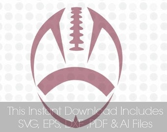 Football Svg, svg football, SVG, Pdf, DXF, EPS, Ai, , Vinyl cutting file | Silhouette Cameo Designer Edition & Cricut Design Space,